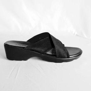 Munro Shoes - MUNRO • Black Walking Wedges - NWOB